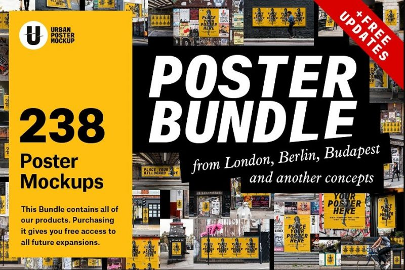 Urban Poster Mockups Bundle