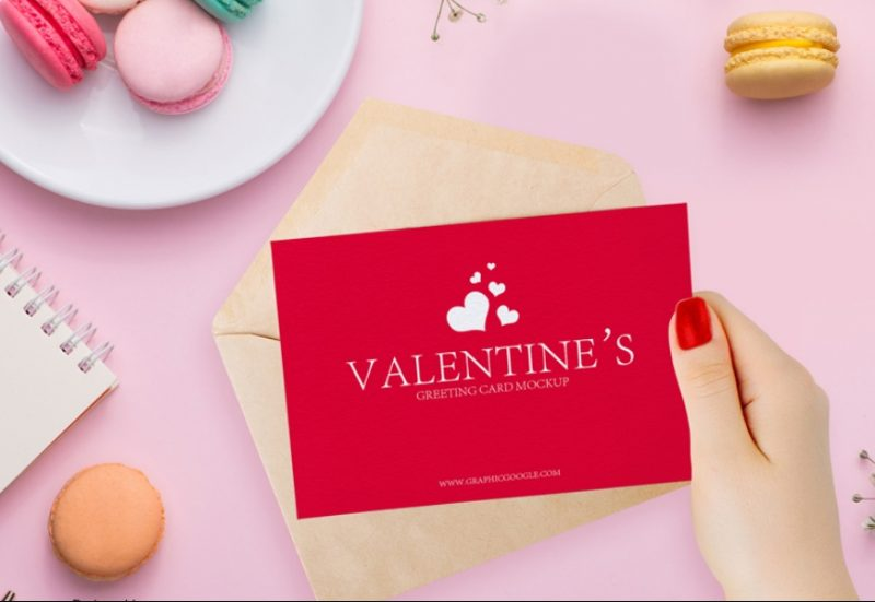 Valentines Greeting Card Mockup
