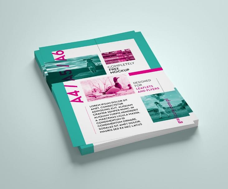 Vertical Leaflet Mockup PSD