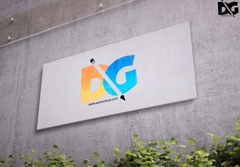 Wall Billbiard Mockup PSD Free