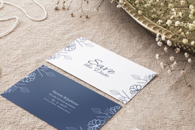 Wedding Invitation Cards Mockup