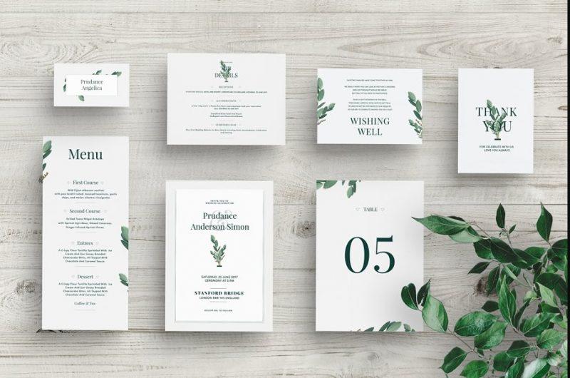 Wedding Invitation Mockup PSD