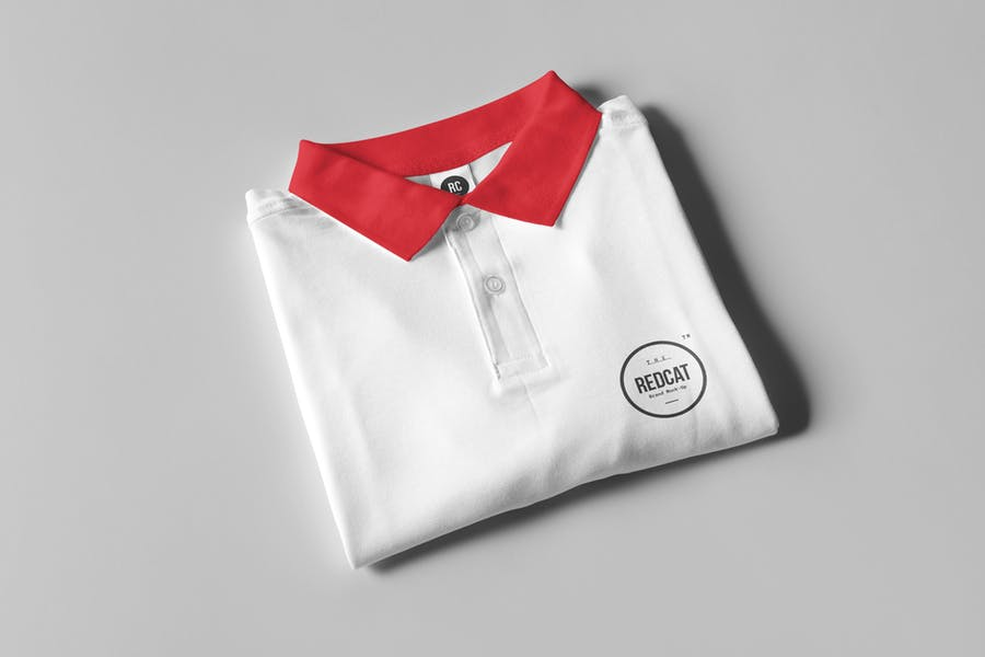 Well Layered Polo Shirt Mockup