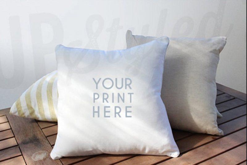 White Cushion Mockup PSD