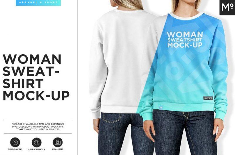 Women Sweatshirt Mockup PSD