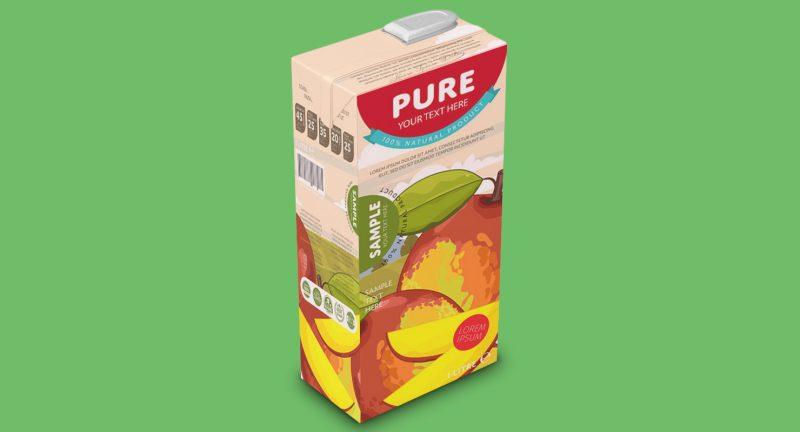 Juice Packaging Mockup PSD Free