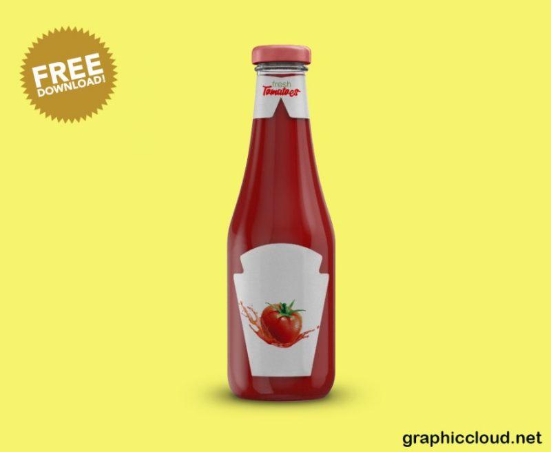 Free Ketchup Branding Mockup