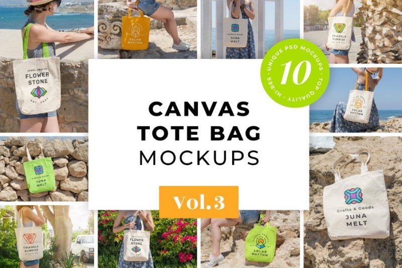 10 Canvas Bag Mockups