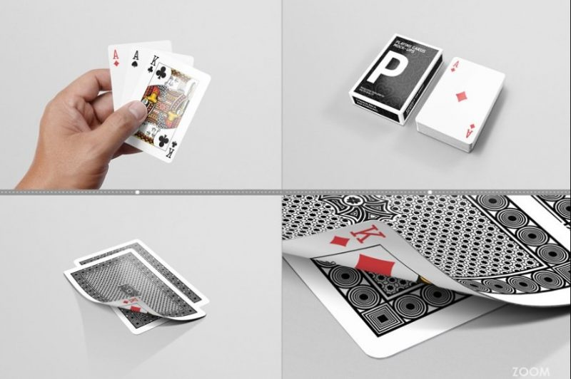 10 Editable Playing Cards Mockup