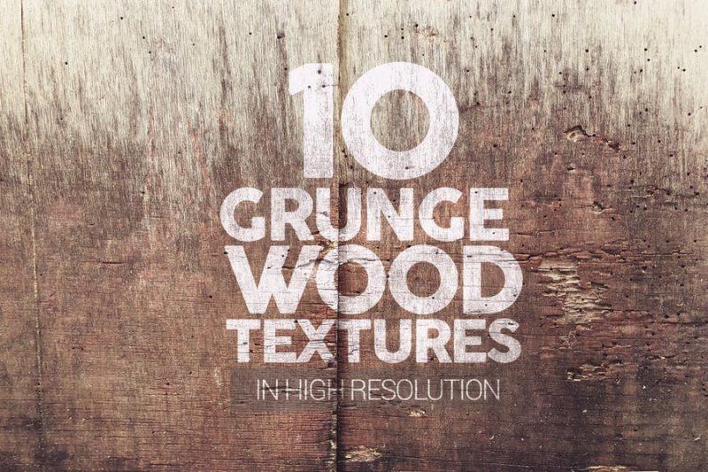 10 Grunge Wood Textures