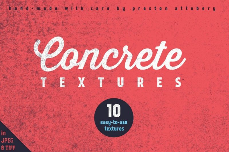 10 Hand Made  Concrete Textures