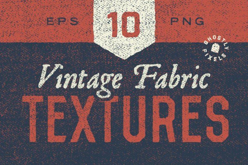 10 Vintage Fabrics Pack