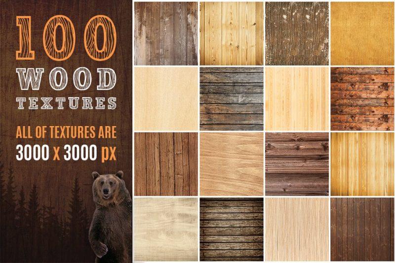 100 Wood Textures Bundle