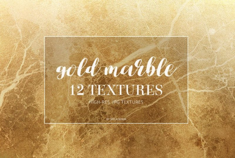 12 Gold Marble Texture Background