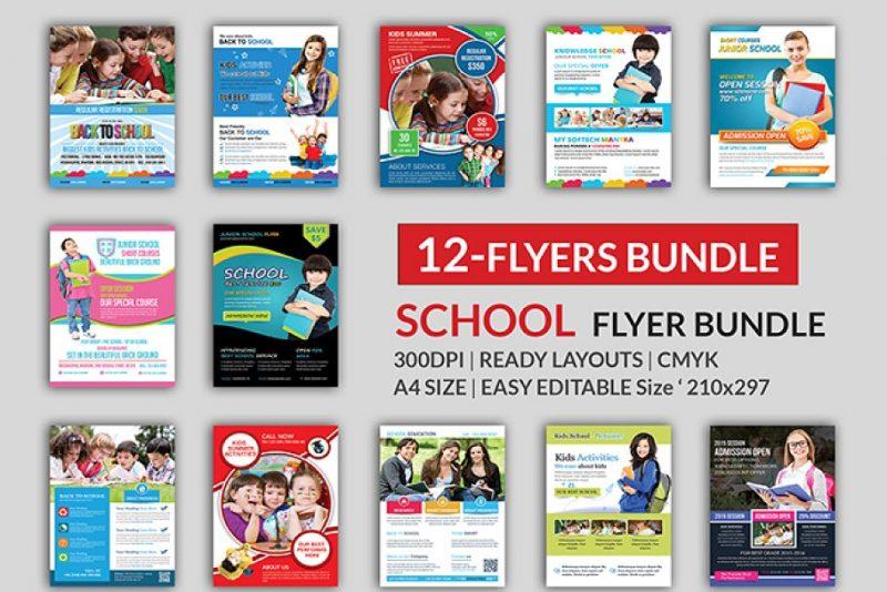 12 School Flyers Bundle