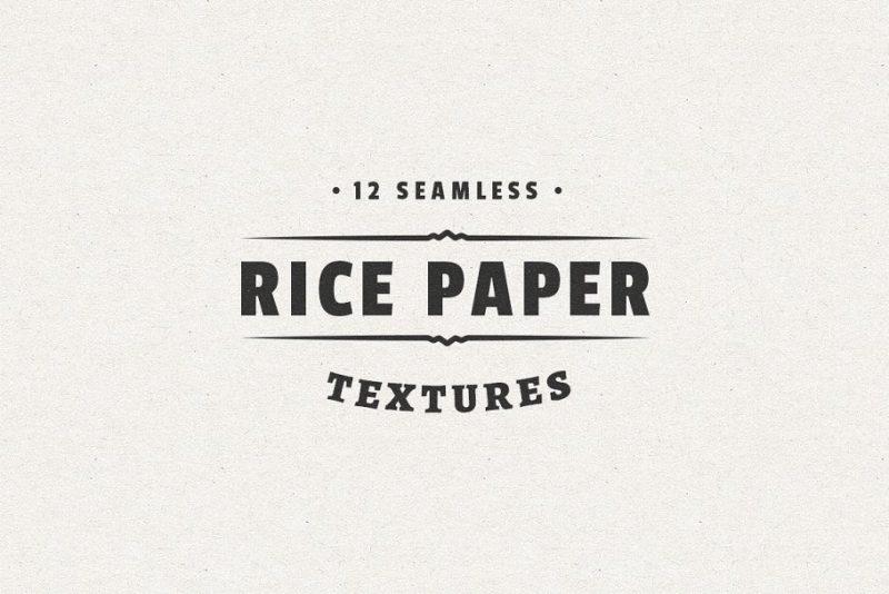 12 Seamless Rice Paper Textures