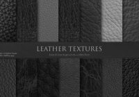 14 Black Leather Textures Pack