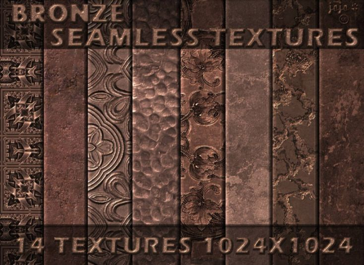 14 Bronze Seamless Textures