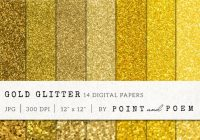 14 Gold Glitter Digital Papers
