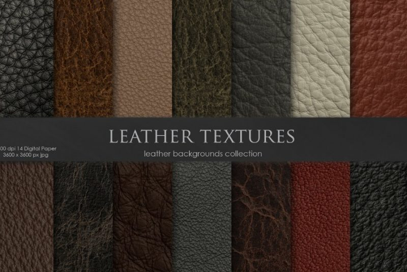 14 Leather Textures Collection