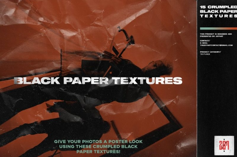 15 Crumpled Paper Texture