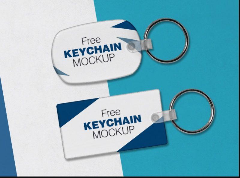 2 Free Keychain PSD Mockups