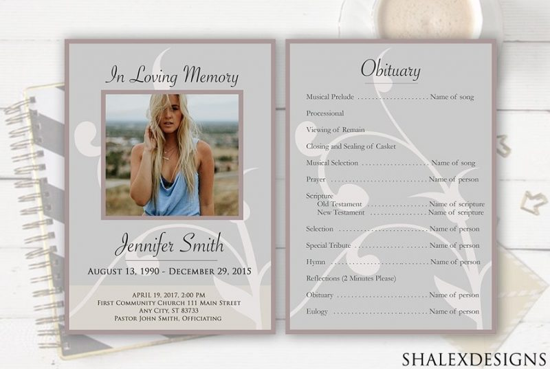 2 Funeral Flyer Templates