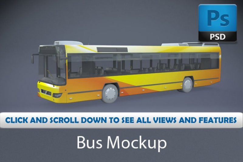 2 High Resolution Bus Mockups