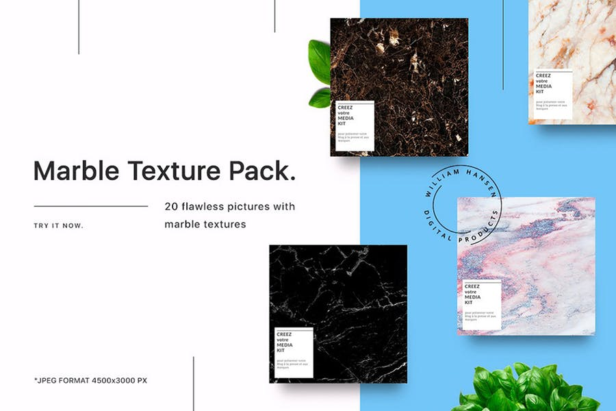 20 Flawless Marble Textures Pack
