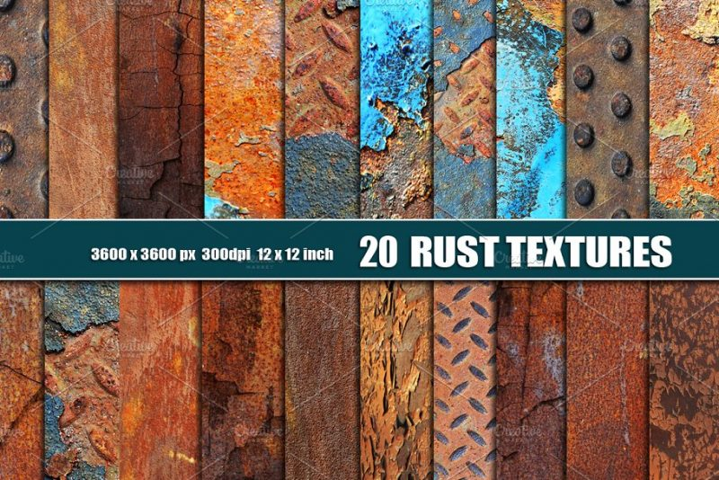20 HD Rust Texture Background