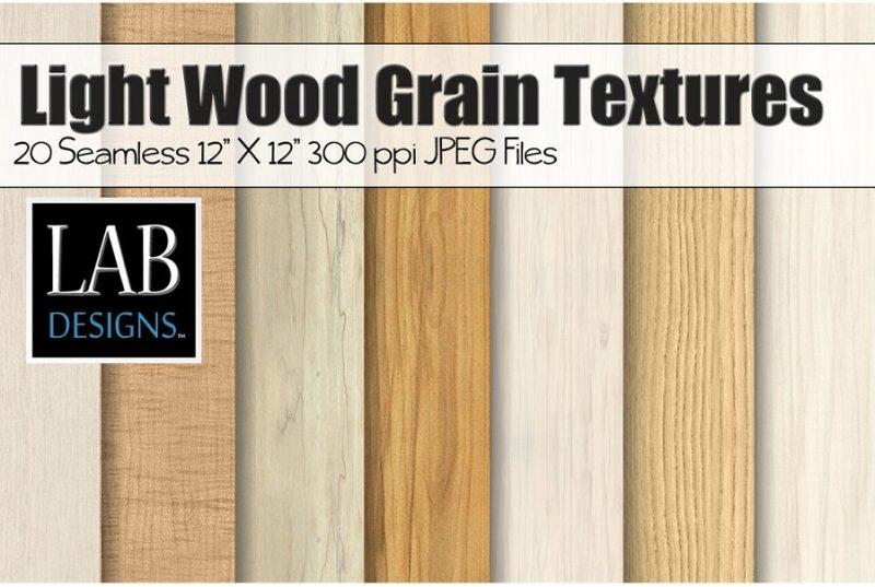 20 Light Wood Textures