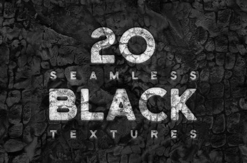 20 Seamless Black Textures Pack