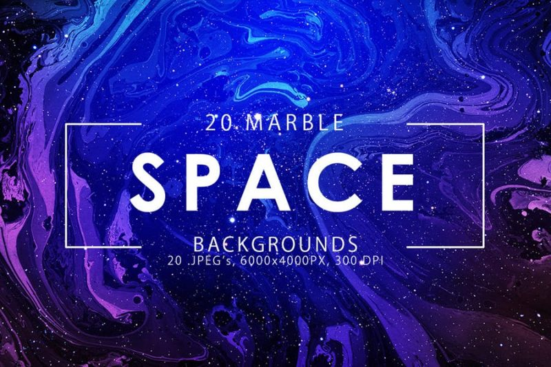 20 Space Marble Backgrounds