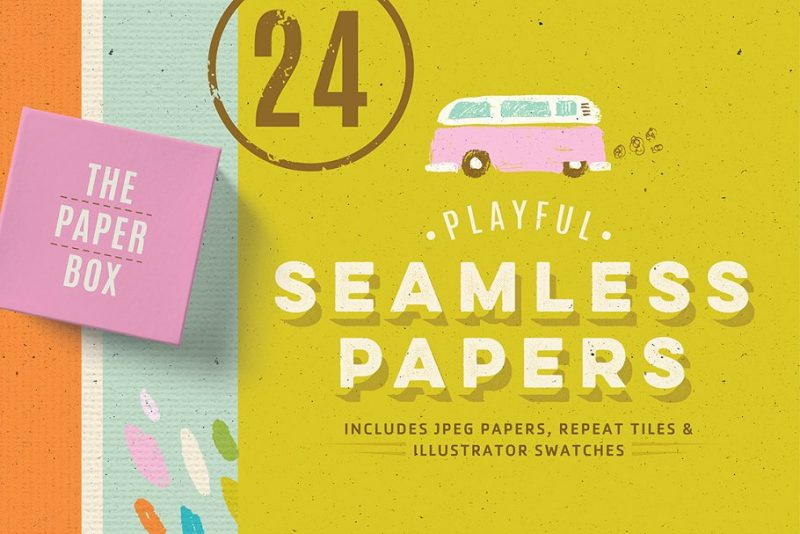 24 Seamless Paper Textures Pack