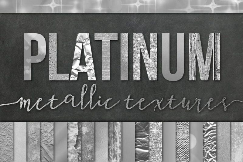 28 Silver Foil Textures PNG
