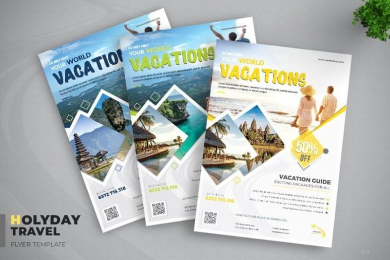 3 Different Travel Flyers
