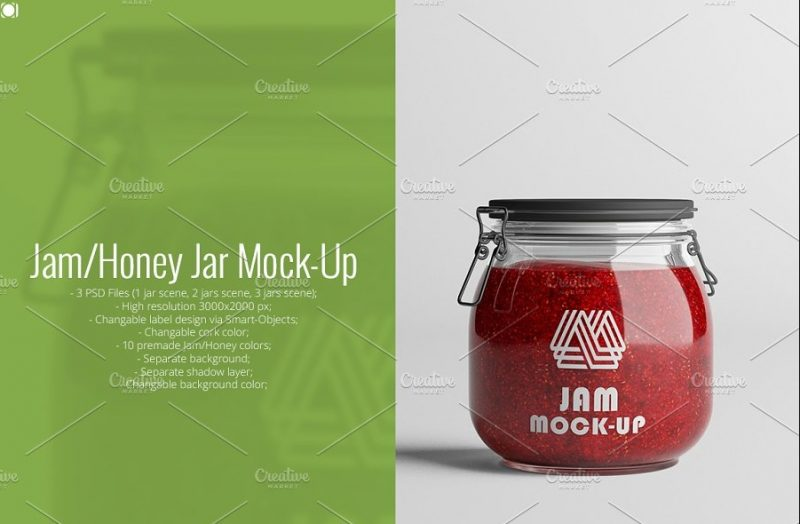 3 Honey Jar PSD