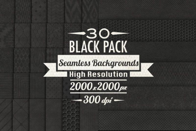 30 Black Paper Textures Pack