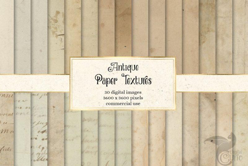 30 Digital Antique Paper Textures