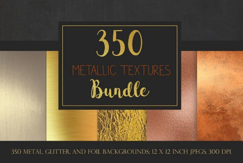 350 Metallic Textures Bundle