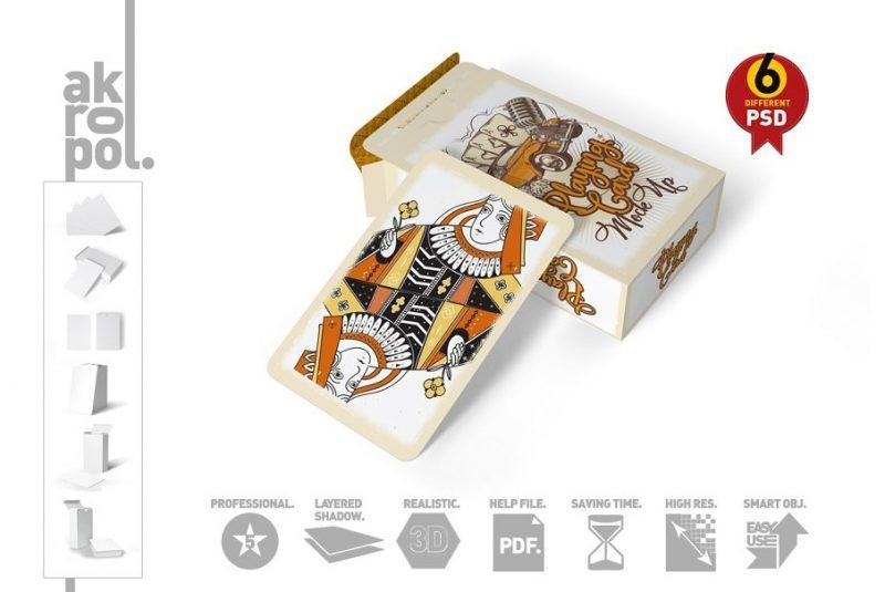 3D Cards Design Mockup
