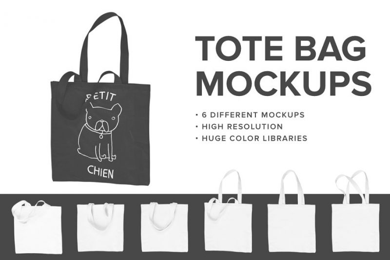 3D Tote Bags PSD Presentation