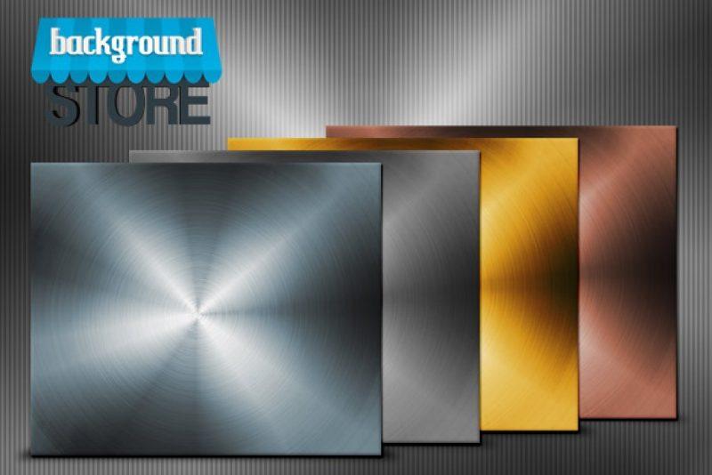4 Aluminium Backgrounds