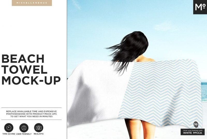 4 Beach Towel Mockups