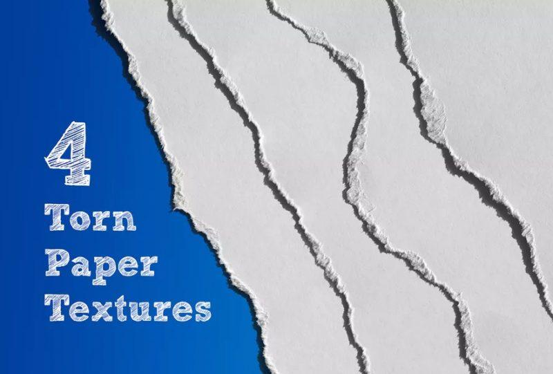 4 Torn Paper Textures