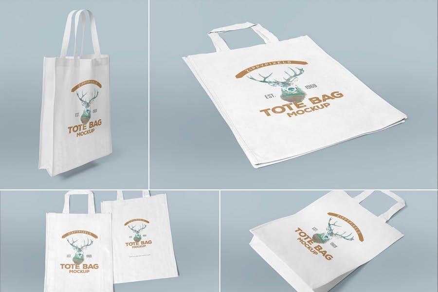 4 Tote Bag Mockups Design
