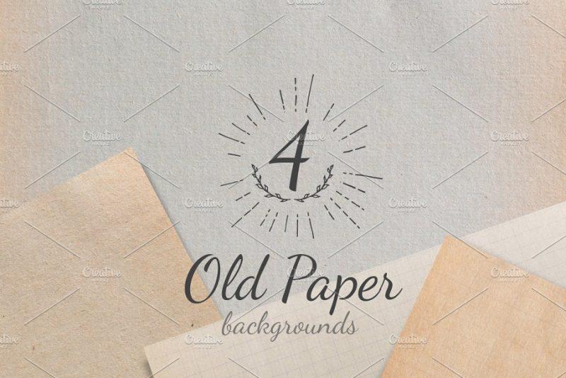 4 Unique Old Paper Textures