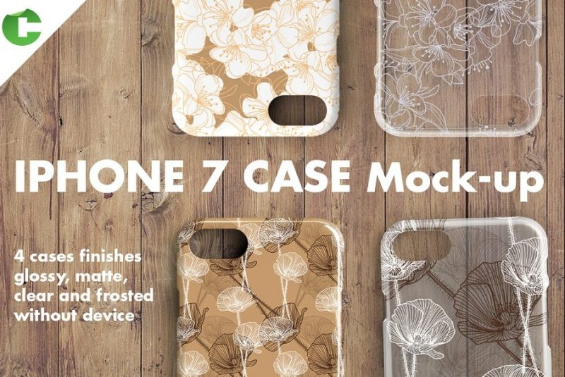 4 iPhone 7 Cases Mockup