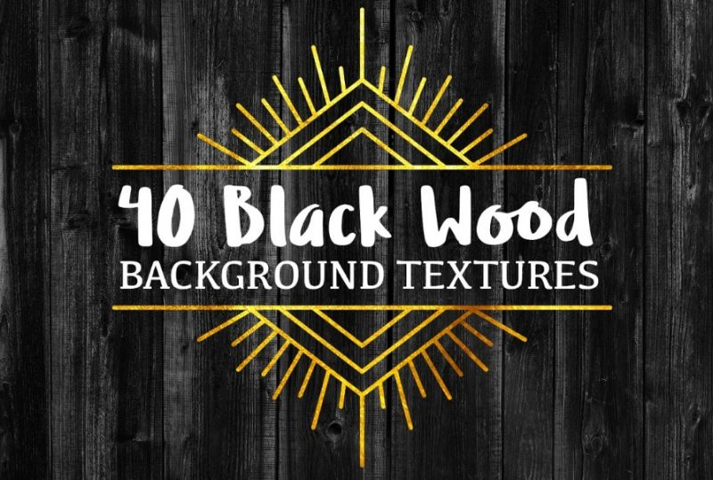40 Black Wooden Background Texture