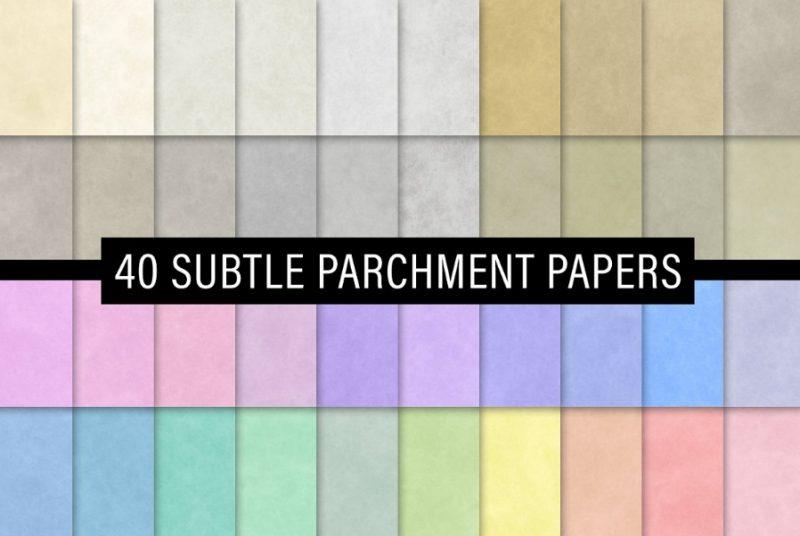 40 Subtle Parchment Textures